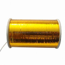 Colors gold M type metallic yarn for knitting, embroidery and colored woven cloth